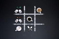 Coffee and Tee on blackbackground