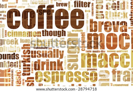 Coffee Artistic Menu as a Abstract Background