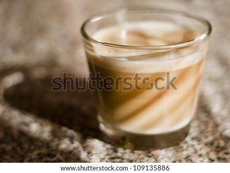 coffee background with latte macchiato