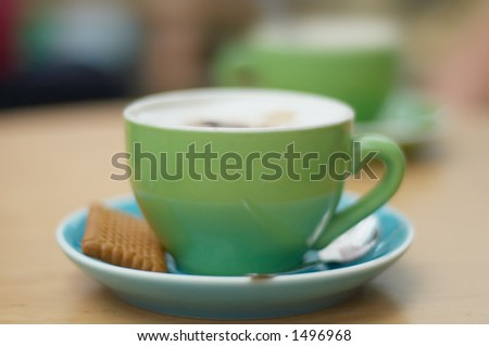 coffee background with trendy colors