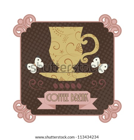 Coffee badge