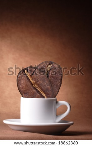 coffee bean in cup