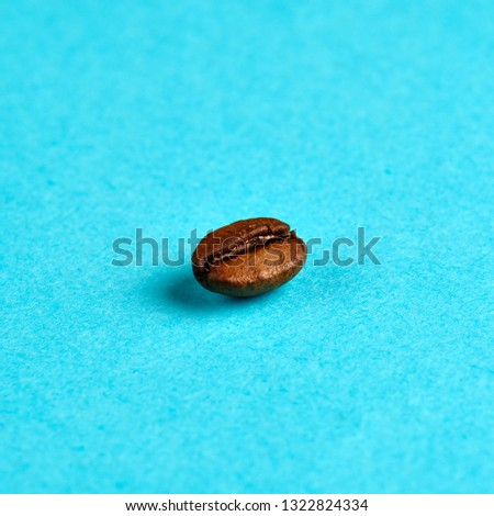 coffee bean on blue background