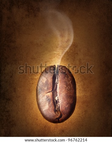 coffee bean on vintage background.