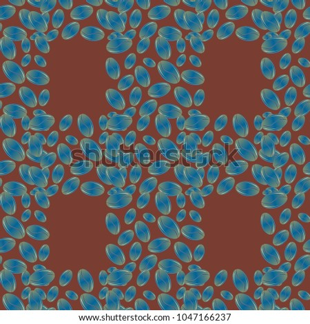Coffee bean seamless pattern background. Coffees seeds.