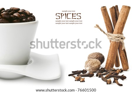 coffee beans and spicy