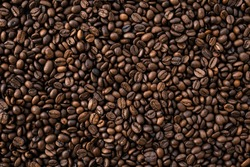 Coffee Beans Background. Food photography. Energy wallpaper
