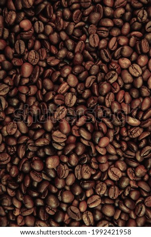 Coffee beans background. Vertical image Photo stock ©
