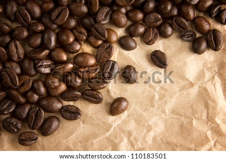 Coffee beans border background
