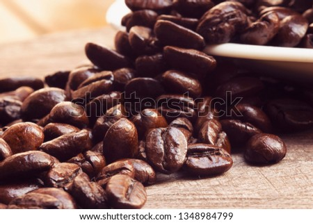 Coffee beans close up #1348984799