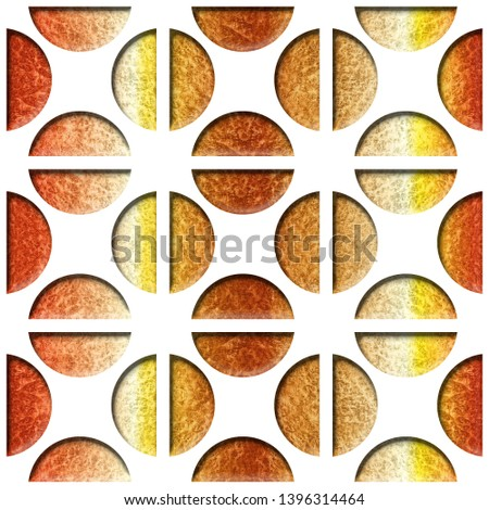 Coffee beans decorative pattern - Decorative pill shape, Modern stylish design - Repeating background, orange yellow surface