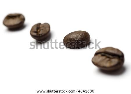 Coffee beans diagonal - stock photo