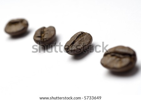 Coffee beans diagonal
