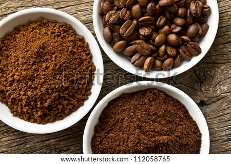 coffee beans  ground coffee and ...