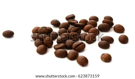 Coffee beans isolated.