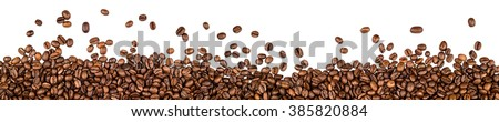 coffee beans isolated on white background #385820884
