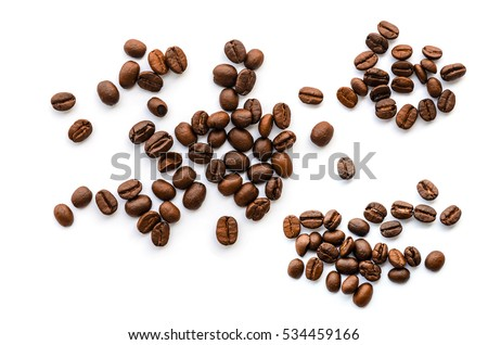 coffee beans. isolated on white ...