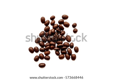 Coffee beans. Isolated on white background on with clipping path.