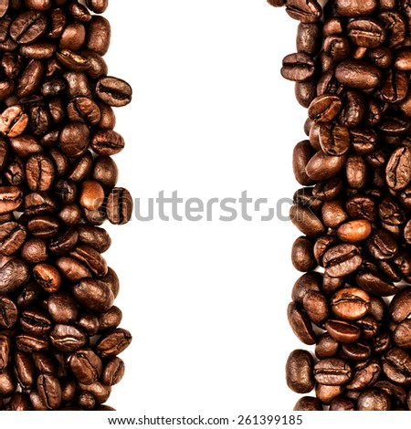 Coffee Beans Isolated On White./ Coffee Beans Isolated On White.