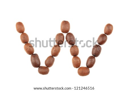 Coffee Beans Letter