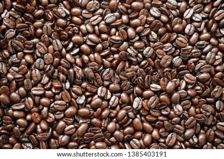 coffee beans roasted for the background