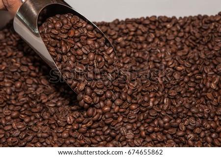 Coffee Beans, Stainless Steel Metal Scraper Scoops Shovel #674655862