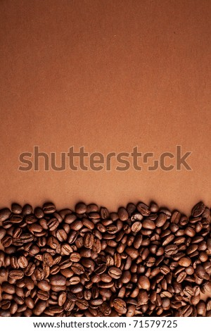 coffee beans stripes on brown background