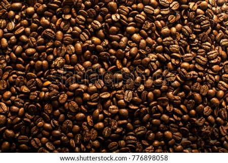 Coffee beans texture. Coffee beans. Coffee background. Fashion photo. Good morning.