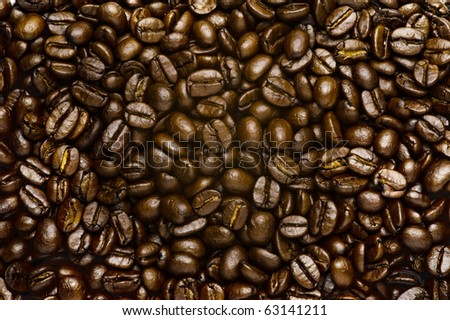 Coffee beans texture for background