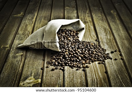 coffee beans (vintage style)