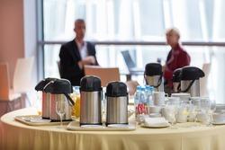 Coffee break at business meeting.