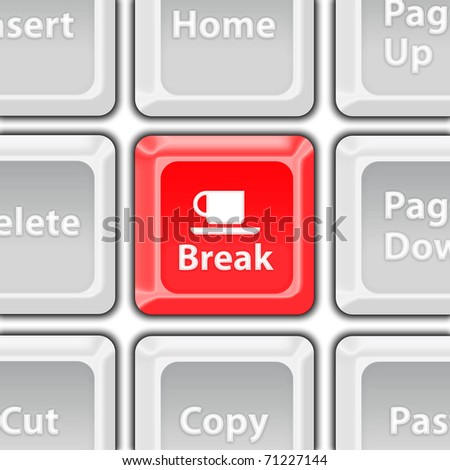 coffee break button