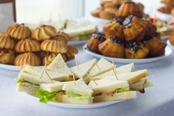 Coffee break, catering a business conference