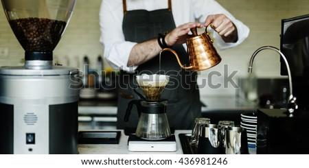 Coffee Cafe Barista Apron Uniform Brew Concept