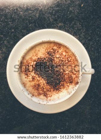 Coffee cappuccino cup geometric white