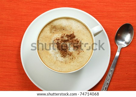 Coffee cappuccino - top view