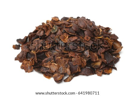 Shutterstock Coffee cherry tea made from the dried skins of dried berries of the coffee plant (cascara) on white background