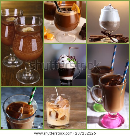 Coffee cocktails collage