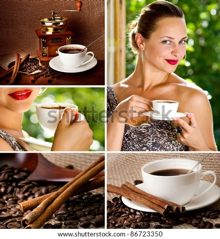 Coffee collage.Art Design