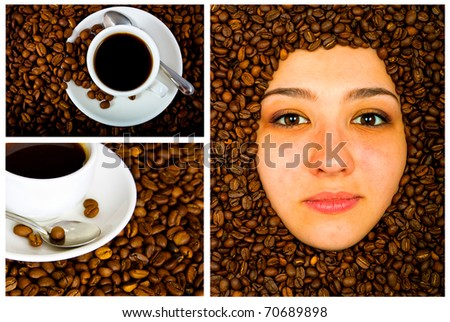 Coffee collage of several images