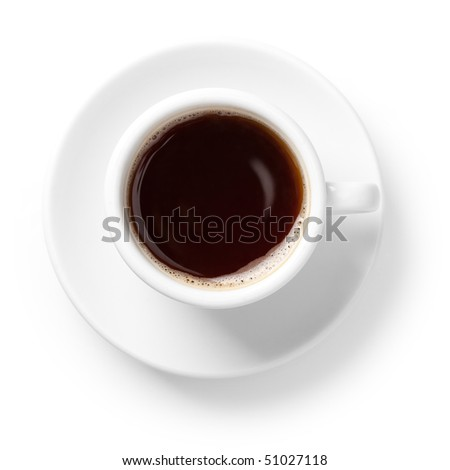Coffee collection - Cup of black coffee. Isolated on white background