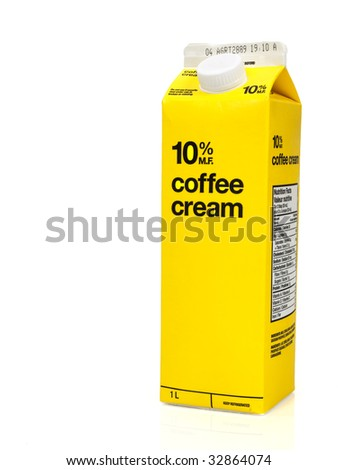 Coffee cream box