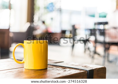 Coffee cup in coffee shop - vintage effect style pictures #274516328