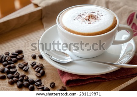 Coffee cup of cappuccino #281119871