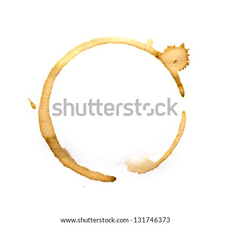Photo of  Coffee cup rings isolated on a white background.
