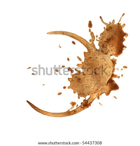 Coffee cup rings isolated on a white background. - stock photo