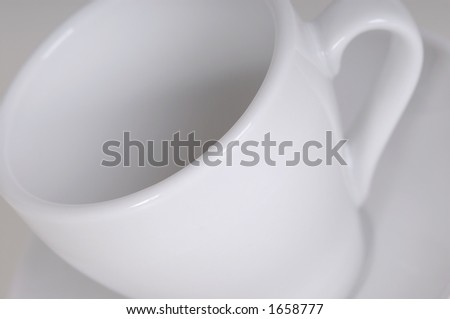 Coffee cup. Studio shooting.