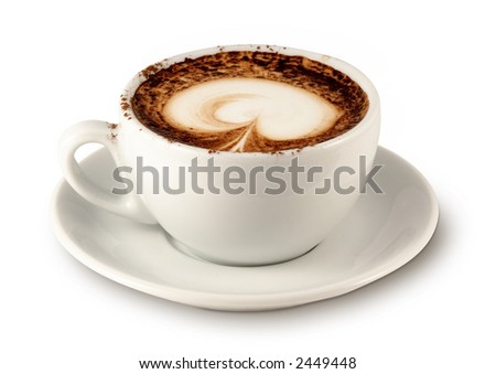 Coffee cup 4 (with clipping path for easy background removing if needed)