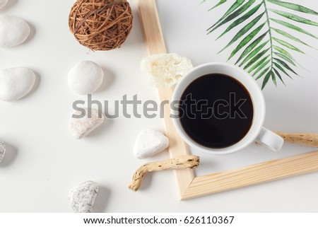 Coffee cup with neutral pattern #626110367