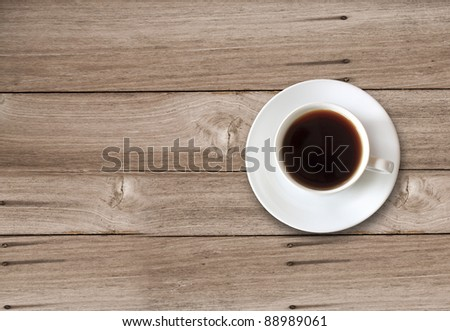coffee cup with space on the table